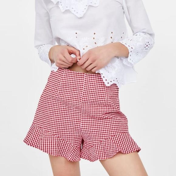 123b0d0a Zara Shorts | Nwt Aw18 Checked Bermuda Szl | Poshmark